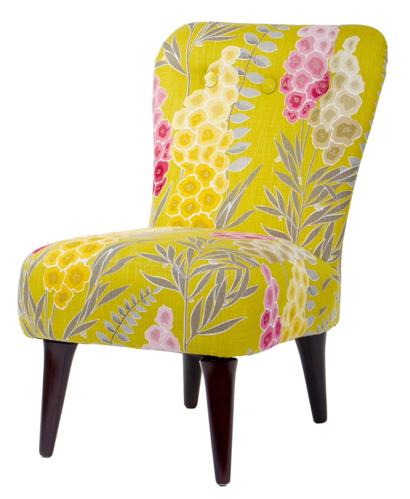 Floral Upholstered Chair. Upholster Mine in a Mint Color